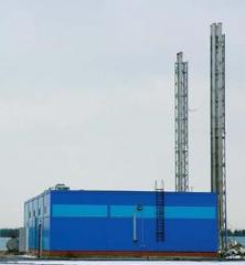 Установки газовые когенерационные в здании с