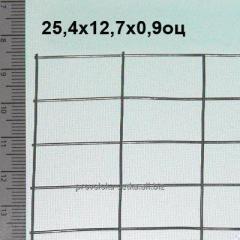 Сварная сетка оцинкованная 25,4*12,7*0,9 мм (цинка до 35 г/м2)