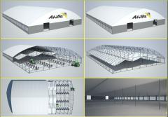 _ Agrokompleks stock-raising of tent hangars