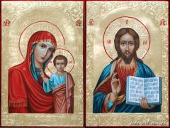 Wedding couple Kazan icon of Blessed Virgin Mary