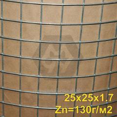 Сетка сварная оцинкованная 25х25х1,6 мм (Zn=130 г/м2) ТМ Казачка ,