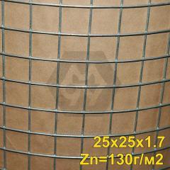 Сетка сварная оцинкованная 25х25х1,6 мм (Zn=130