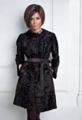 Fur coat from astrakhan fur.