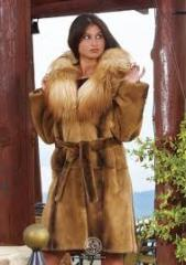 Fur coat from a fox