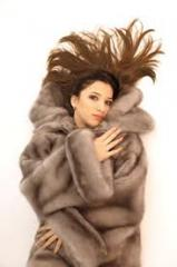 Fur coat from a nutria