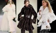 Fur coat from a polar fox