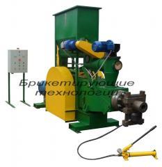 Briquetting presses 900-1000 kg. at one