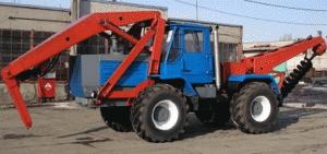 Бурильно-крановая машина БКМ-630 на базе трактора
