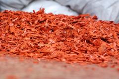 Pine spill, mulch