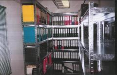 Стеллажи архивные полочные оцинкованные