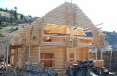 Construction of the house (cottage) from the bar
