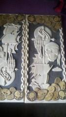 Handwork backgammon