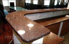 Table-tops from granite and marble