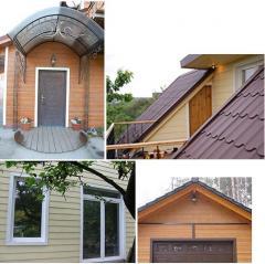 Fibrotsementny trimma, pediments, Cedar spotlights