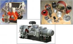 Spare parts to the VSh-3/40 compressor