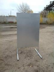 Frames for T-shaped pavement signs. To buy a frame for a pavement sign of cues.