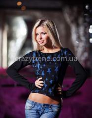 Кофточка с синими звездочками, женская одежда