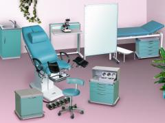 Furniture set for a gynecologic office of MMG