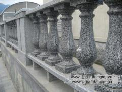 Rail-posts from granite from the Ukrainian