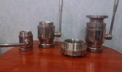 Shutoff valves stainless steel branches