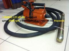 Immersion vibrator for concrete