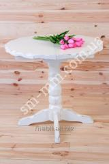 Wooden table of the Country round