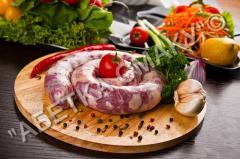 Sausage Ukrainian for frying, Abetk Smaka