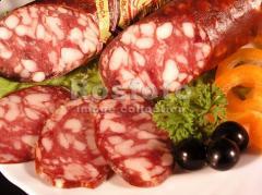 Лебединская, варено-копченая колбаса