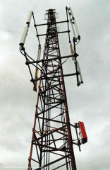 Antenna support and radio masts for application in