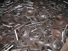 Шайба закладная для железобетонных шпал служит