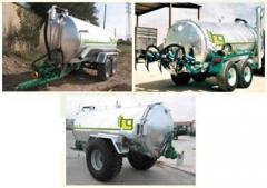 Tanks (barrel) - Spreaders of liquid fertilizers -