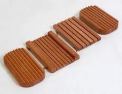 Portasapone in legno realizzato in legno naturale
