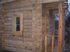 Wooden houses Derev'yan_ of budinka