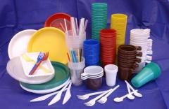Одноразовая посуда, одноразовые стаканы,