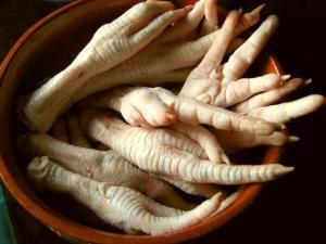 Потроха индюка (желудок, печень, лапы, сердце)
