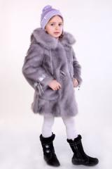 "Ring"" fur coat Metrics Size 24 98-48-45"