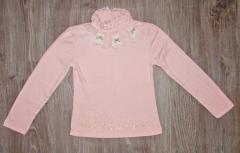 Блуза гольф для девочки розовая, р 130