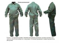 Overalls for protection against industrial