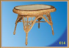 Стол овальный оплетеный. Плетеная мебель из