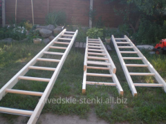 Ladder wooden for works with electroinstallations