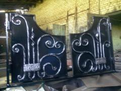 Кованые каминные двери