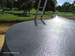 Modular capacity for water with a tension cover in