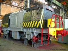 Pusher metallurgical TM-16, TM-20 for movement of