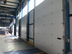 Секционные гаражные и промышленные ворота.