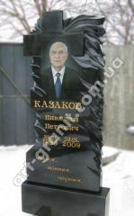 """Памятник из гранита """"крест"""" Казакову"""