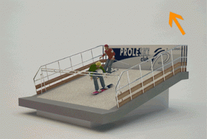 The alpine skiing PROLESKI PRO3D exercise...