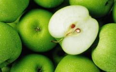 Residue is dry apple
