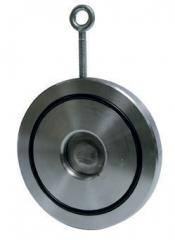 Межфланцевый обратный клапан одностворчатый