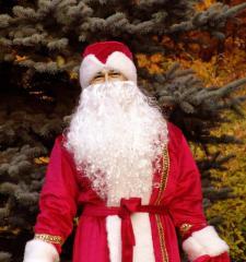 Добротный костюм Деда мороза из бархата (не