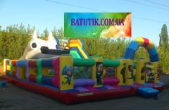 Inflatable complex hill + trampoline rob
